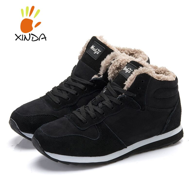 2015 Fashion Men Women Winter Snow Boots keep Warm Boots Plush Ankle boot Snow Work Shoes Men's Women's Outdoor Snow Boots 36-46