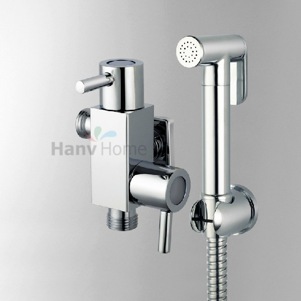 Bathroom brass wallmounted handheld multiple bidet sprayer for Adjustment bureau bathroom scene