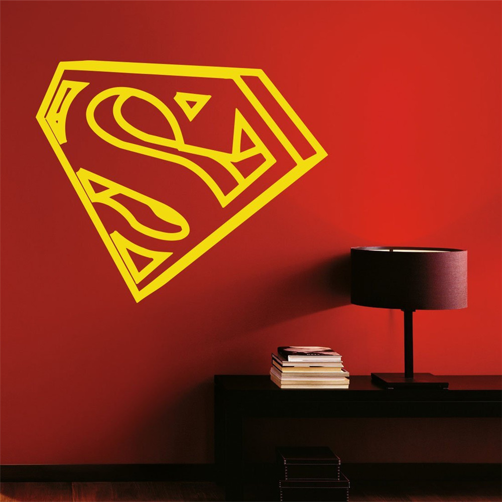 Superman 3d Wall Decal Vinyl Decal Superhero Comics Anime