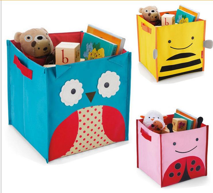 2015 Real Cigarette Case Children Toys Storage Box Kids Organizador Baskets Baby Organization Pouch Dog/owl/bees/ladybug/monkey(China (Mainland))