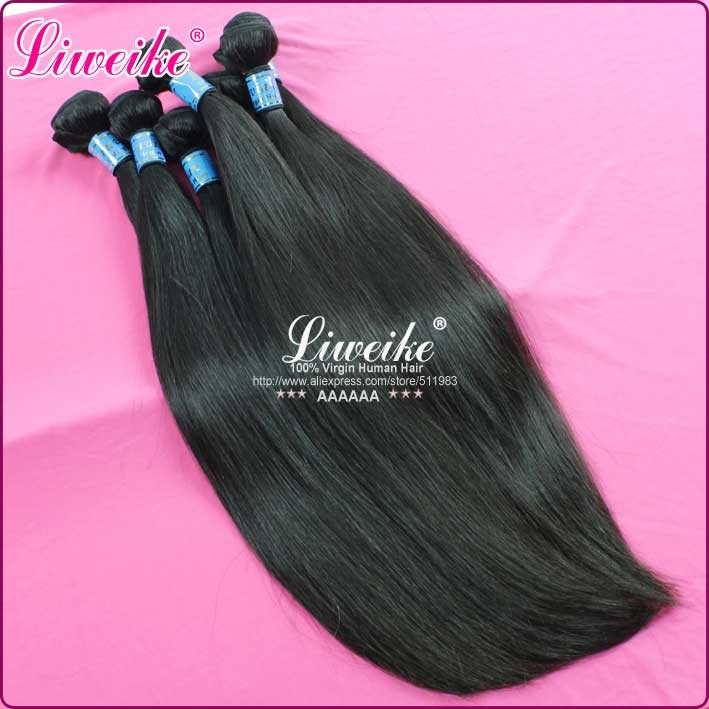 peruvian virgin hair human hair extension straight hair 1B color no shedding 1pc/lot DHL free shipping