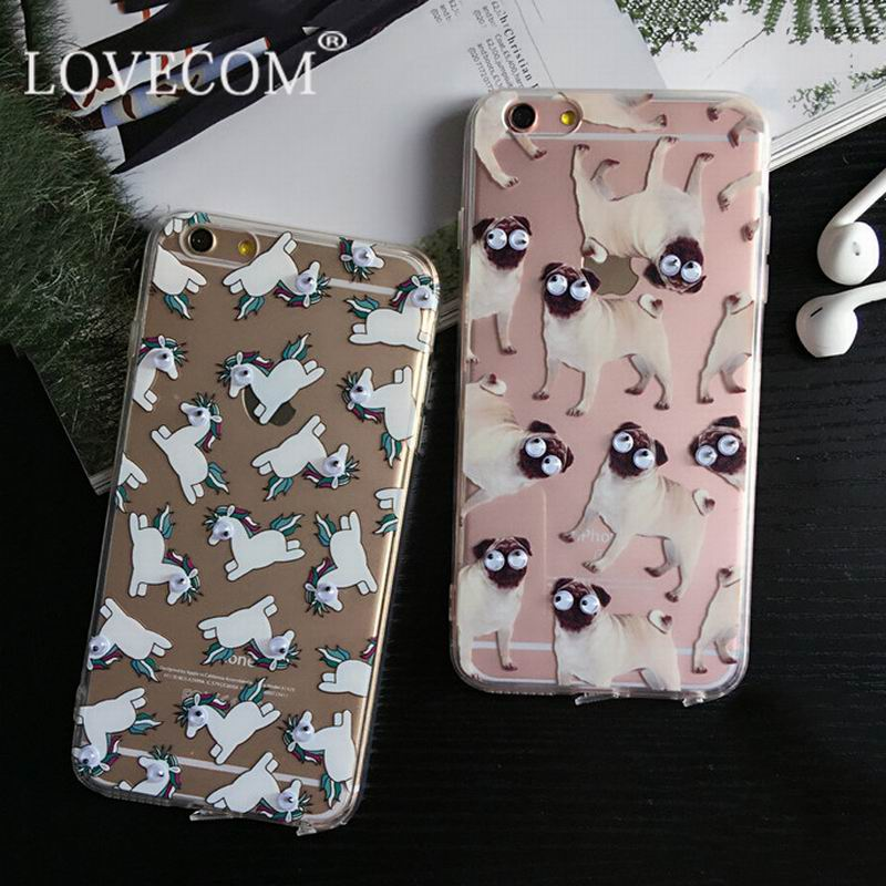 New Arrival 3D Eye Horse Dogs Phone Capa Para Fundas Cover Case For Apple iPhone 5 5S 5SE 6 6S Plus Soft TPU Sleeve Shell(China (Mainland))
