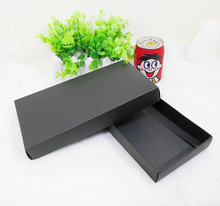 20pcs/lot-22.5*11.5*3cm Black Drawer Cardboard Box for Gift Tea Power Bank Packaging Paper Package Boxes DIY Craft Packaging Box