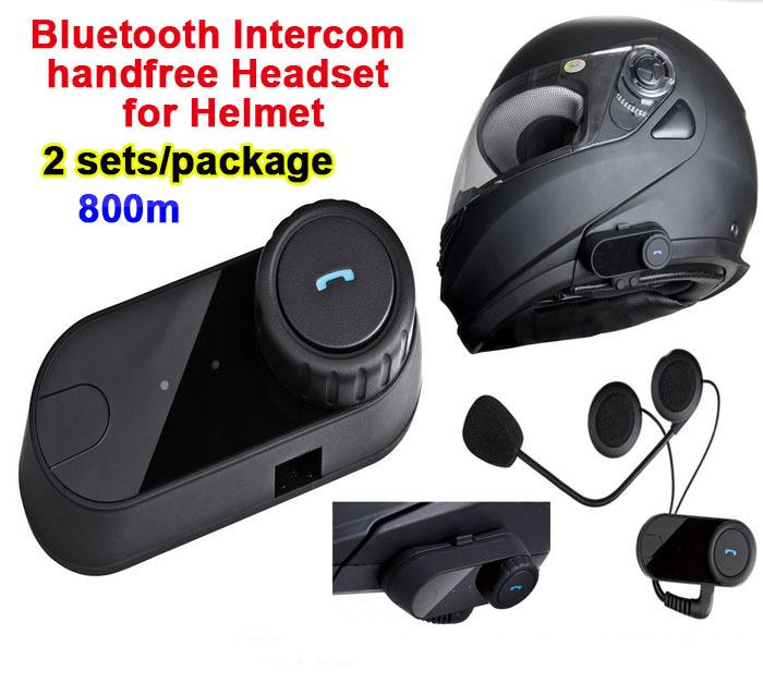 2pcs/Lot 800m Waterproof Motorcycle Helmet Full Duplex Bluetooth Headset Hand Free Intercom Ski Helmets Interphone Casque Audio(China (Mainland))