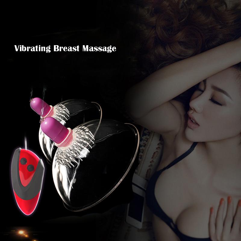 Nipple Stimulators Breast Enlargement Vibrating Breast Massage Device for Female Masturbation Sex Toys Sex Products for Women(China (Mainland))