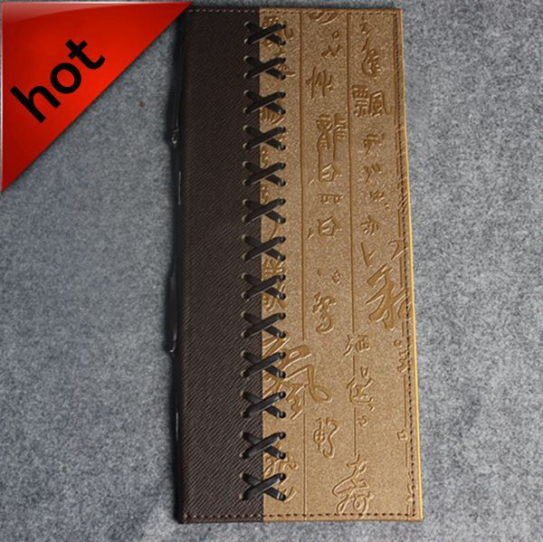 20 Pcs/lot Leather Menu Holder Restaurant Menu Cover Retro Style Bronzing Printing Accept OEM Order With High Quality(China (Mainland))