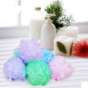 4pc Bathing Skin Care Small Mesh Pouf Sponge bath ball, portable Soft Body Exfoliating Cleaning Sponge Mesh Net Shower Bath,35g(China (Mainland))