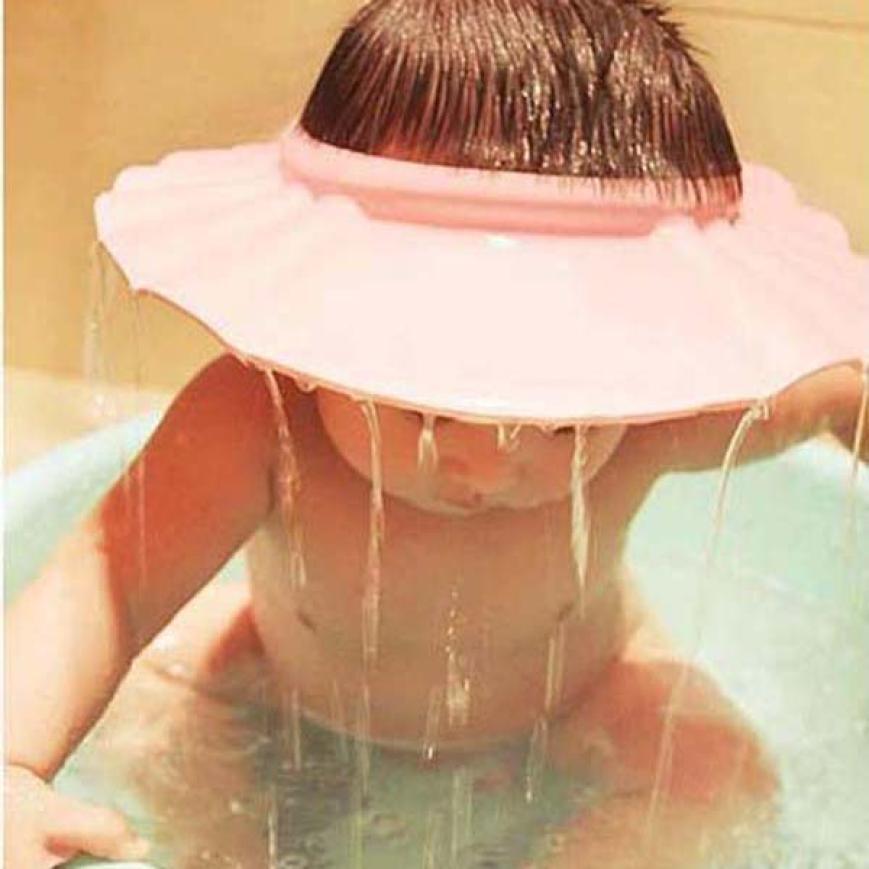 Baby Hat Adjustable Shampoo Shower Bathing Bath Protect Soft Baby Cap Hat Bonnet Enfant #2458(China (Mainland))