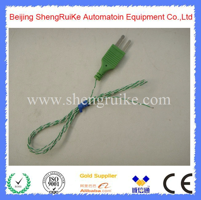 Teflon Weld point K type thermocouple with  Connector  ,2*0.2mm, length 1000mm<br><br>Aliexpress