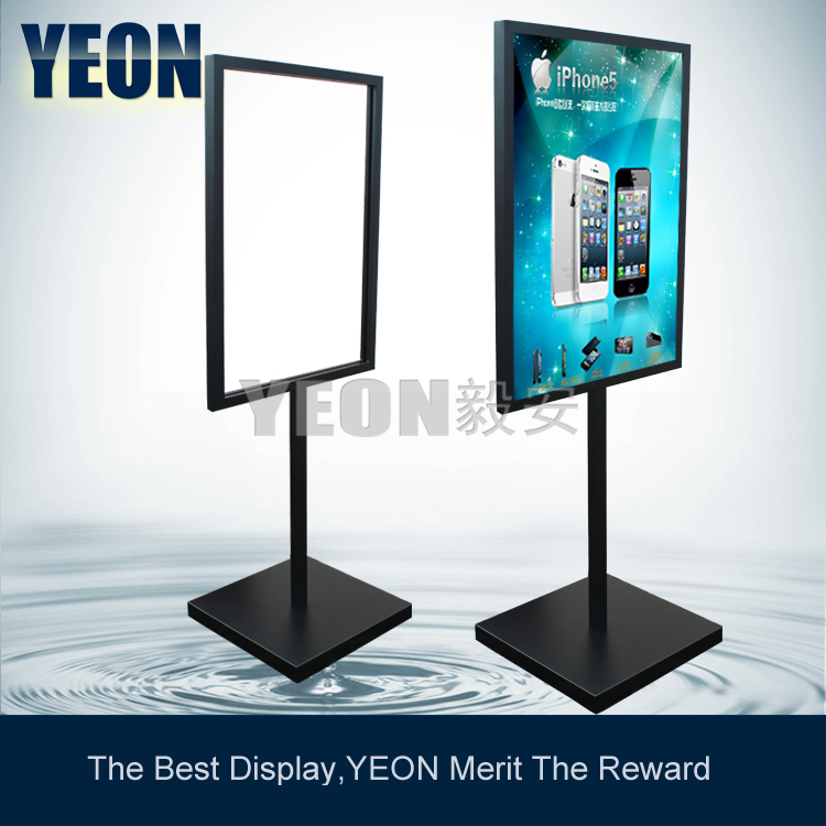 Yeon heavy outdoor floor menu board black poster stand for Floor 6 reloaded menu