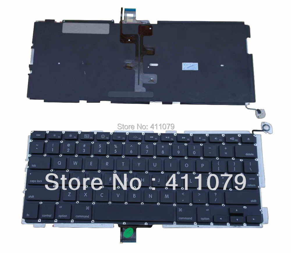 """US keyboard Backlit Black Teclado For Apple Macbook Pro 13"""" Series Accessories Replacement Parts Wholesale Tested(K2367)(China (Mainland))"""