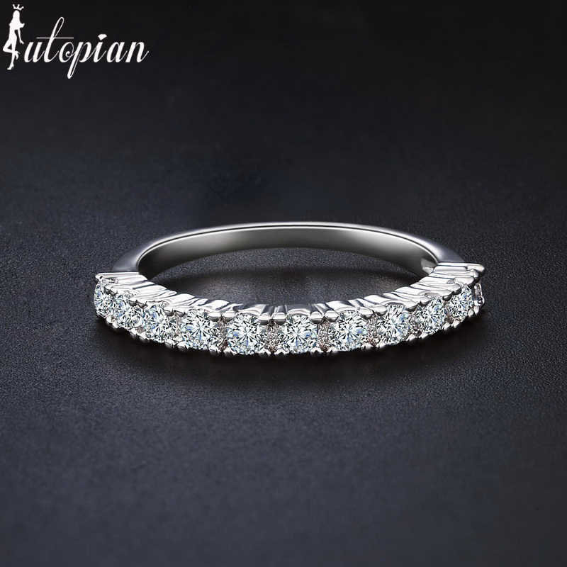 Iutopian Brand 2016 Engagement Rings Anels For Women With Top Quality CZ Brid
