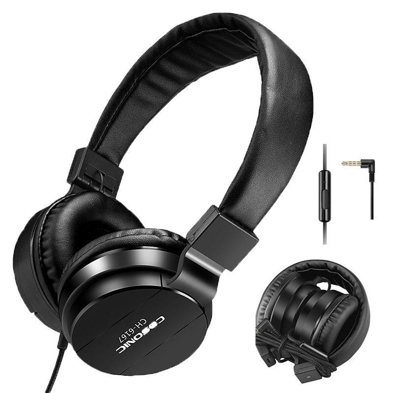 Brand Cosonic Mobile Phone Earphones & Headphones Foldable Gaming Headset with Microphone HIFI Music Lightweight Wired 6167(China (Mainland))