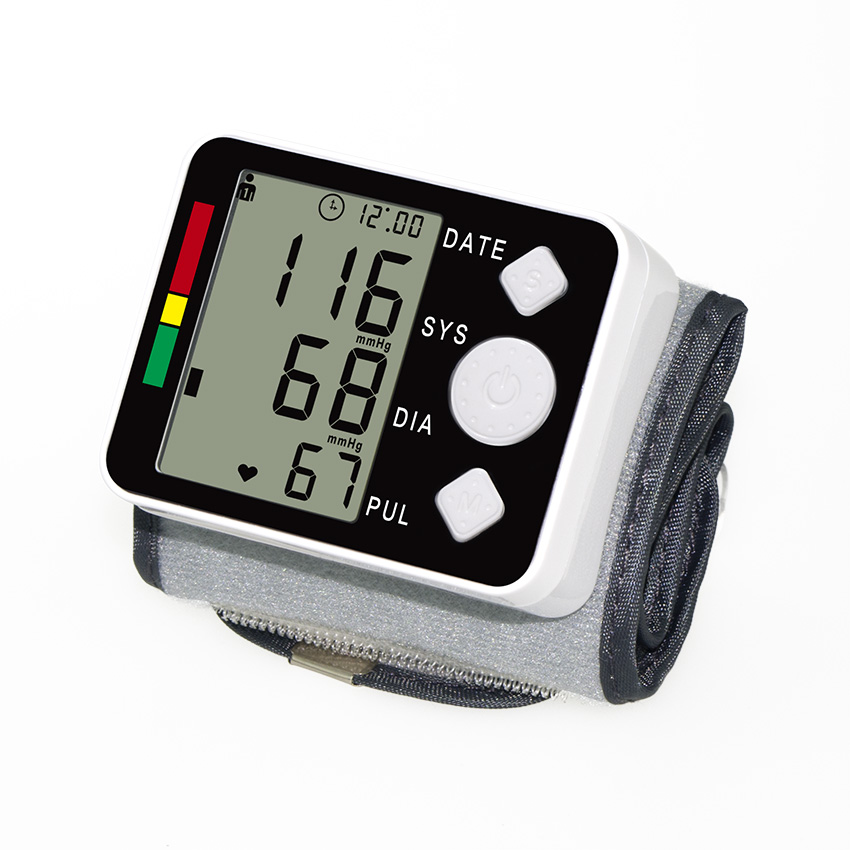Factory Wholesale wrist digital blood pressure meter portable Automatic sphygmomanometer LCD tonometer health diagnostic-tool