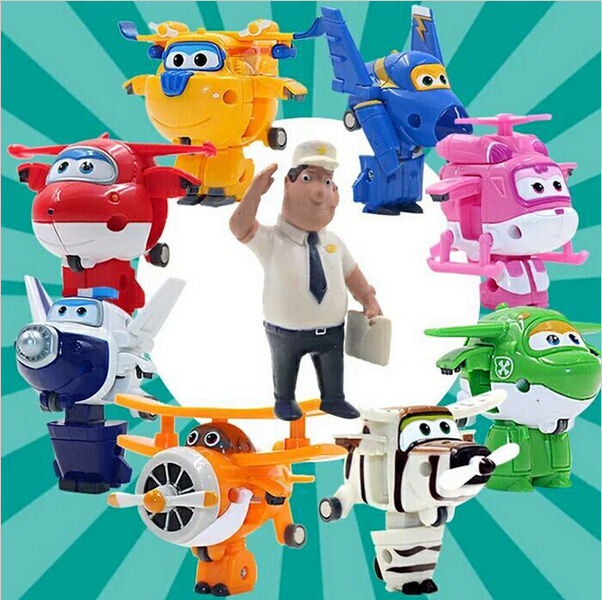 2016 9 styles Super Wings Mini Planes Deformation Airplane Robot Action Figures Changeable Toys action toy figures Super Wings(China (Mainland))