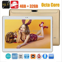 Free shipping 10 inch tablet pc Octa core 4GB RAM 32GB ROM 1280*800 5.0MP dual sim Android 5.1 Bluetooth IPS GPS tablets(China (Mainland))