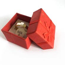 Wholesale Fashion Jewelry Box, Multi colors Rings Box,Earrings/Pendant Box 4*4*3 Display Packaging Gift Box(China (Mainland))