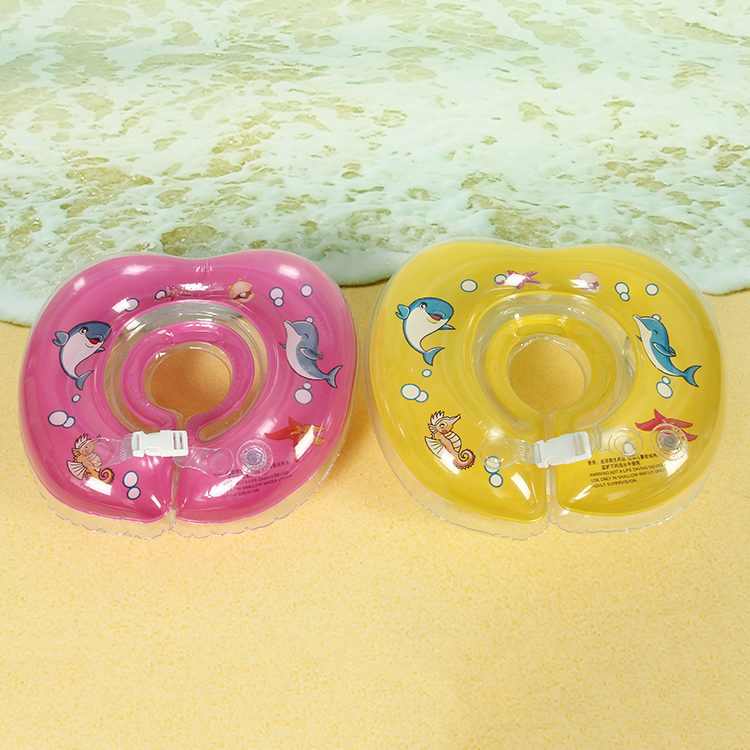 2016 New Infant Safety Lap Swimming Aid Baby Neck Collar Float Rubber Ring Inflatable Circle Infant Swim trainer Accessories(China (Mainland))