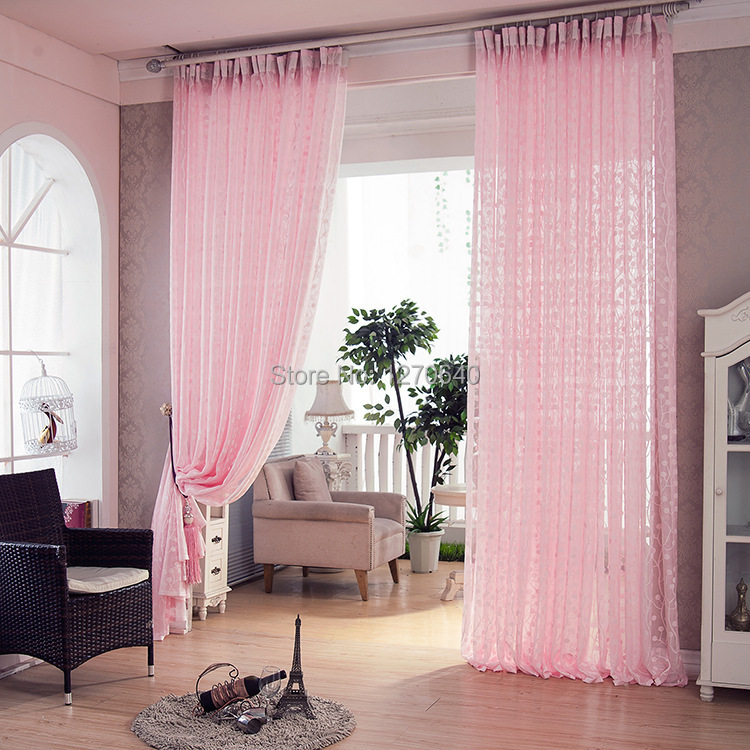 Romantic drapery good quality pink curtain for girls room for Curtain designs for girls bedroom