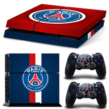New Style Paris Saint-Germain FC decal Sticker For PS4 Console Skin Stickers + 2Pcs Controller autocollant Skin Protective PSG