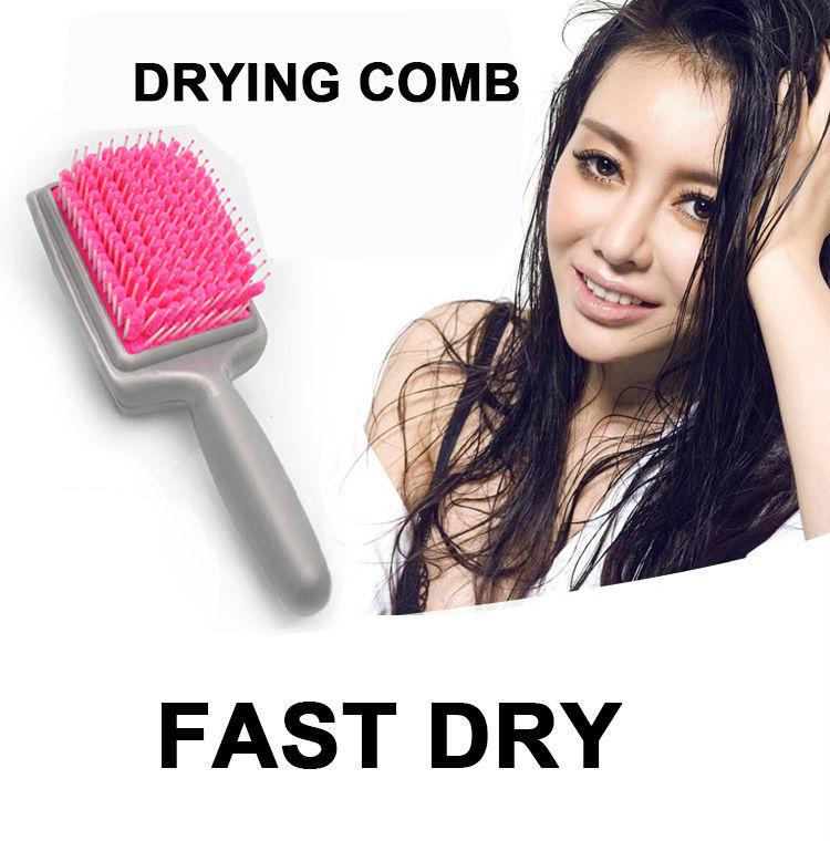 2016 Magic Quick drying comb Professional Fiber Healthy Cushion Hair Massage Hairbrush fast dryer Combs Scalp brush hair care(China (Mainland))