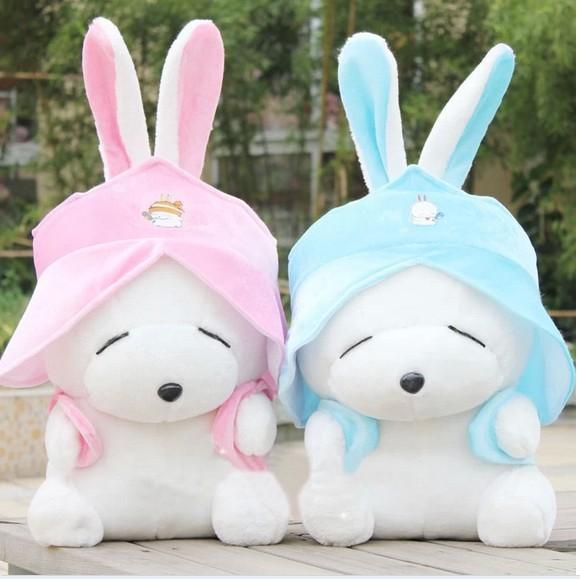 stuffed animal cute rabbit MashiMaro plush toy 65cm MashiMaro doll blue or pink colour h7762(China (Mainland))