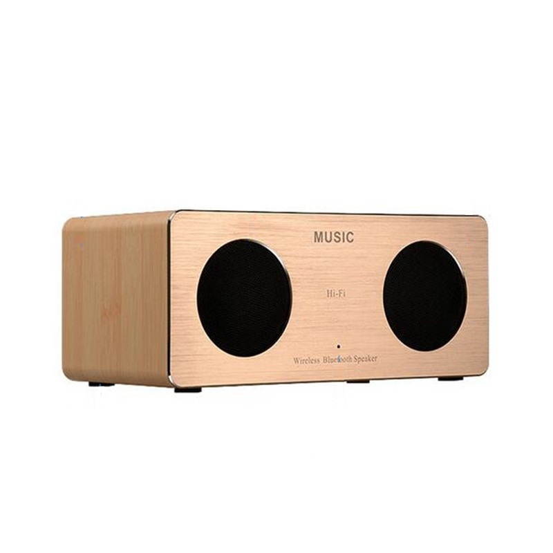 Wooden HIFI Bluetooth Stereo Speaker High-fidelity Surround Sound Dual Speakers Mini Wireless Computer Speaker Usb Wood Speaker