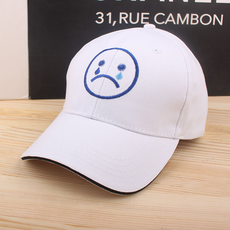 Gorras Adult Unisex New Limited Character Fashion Casual Casquette 2016 Lovely Smiling Sad Face Trend Embroidered Baseball Cap(China (Mainland))