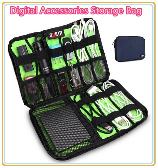 Hot Brand Digital Accessories Storage Bag,Cable Organizer Case, Put Hard Drive Disk Cables USB Flash,Travel Case Bag Free Ship.(China (Mainland))
