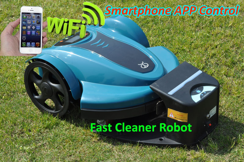 Newest Cheapest lithium battery Robot Lawn Mower 158N Updated SmartPhone APP Wifi Control,Water-Proofed Charger(China (Mainland))