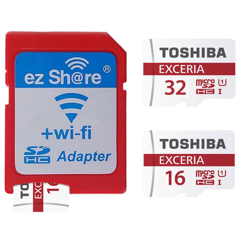 EZ Share Wireless WIFI SD Card Adapter +Toshiba 16GB 32GB Micro SD Memory Card SDHC TF Card mikro sd 48MB/s Class 10 Super!<br><br>Aliexpress