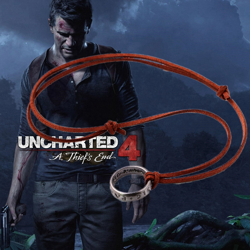 Hot Game Uncharted 4 Necklace A Thief's End Drake Alloy Necklaces Cosplay Accessories Fashion Men's Jewelry(China (Mainland))