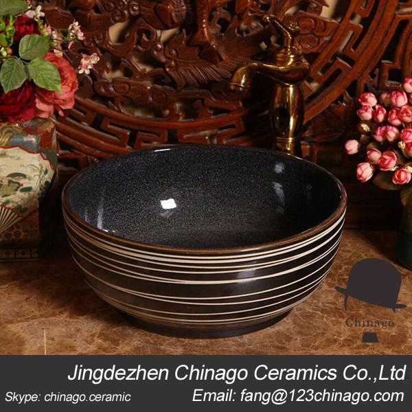 Elegant Flowing Lines Design Ceramic Wash Hand Basin Art Basin(China (Mainland))