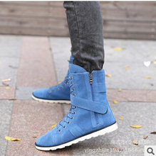 2015 autumn winter Men Boots high help casual shoes flats men s ankle boots martin boots
