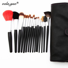 Professional SABLE HAIR Makeup Brushes Set 16 Pcs/Set High Quality Cosmetic Tools Kit Free Shipping
