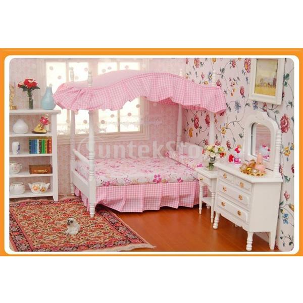 com buy free shipping dollhouse bedroom miniature furniture