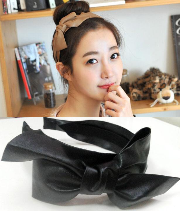 Water quality models Hanguo Chun leather bow hair bands headband(China (Mainland))