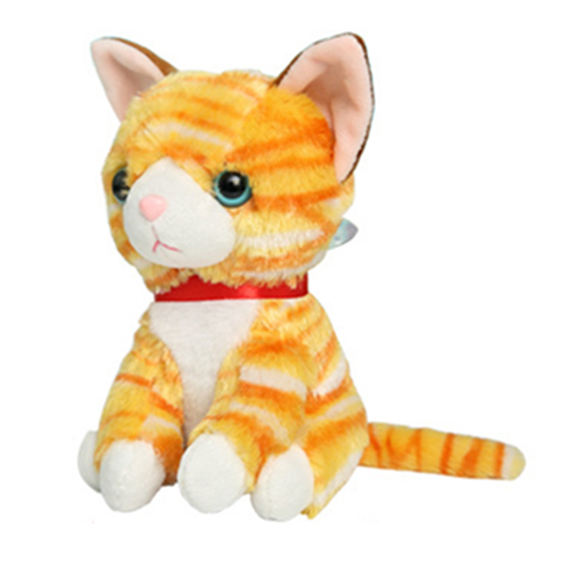 15cm 6'' The Soft Stuffed Plush Cat Toys Big Eyes Animals Cute Stuffed Animals with Gig Eyes Gifts for Children Kids(China (Mainland))