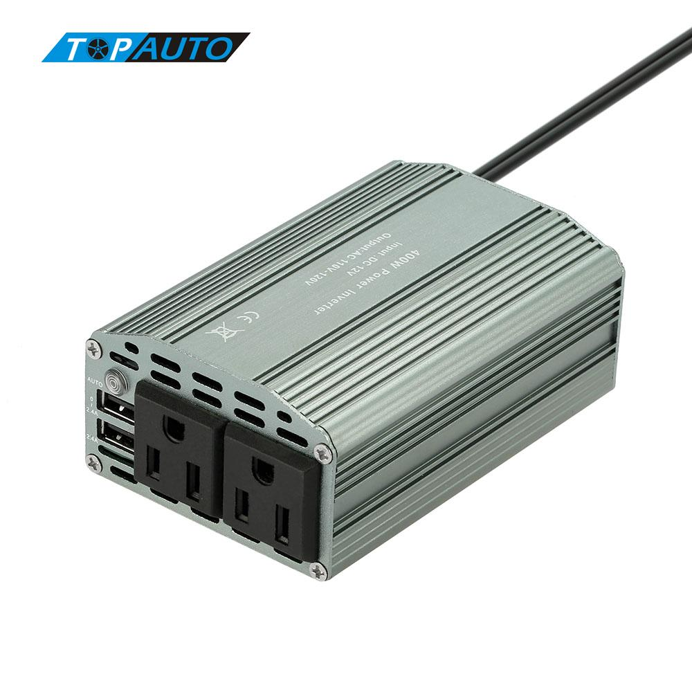 Auto 400W Power Mini Inverter DC 12V to AC 110V Converter 800W Peak 2.1A Dual USB Ports Car Adapter Charging Cigarette Lighter(China (Mainland))