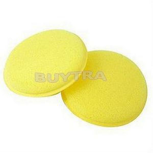12pcs/set Very Useful Soft Yellow Polish Round Car Cleaning Washing Sponges Wax Sponge Drop Shipping(China (Mainland))