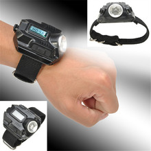 Rechargeable LED WristWatch USB Flashlight Wrist Flashlight Torch 4 Mode Wristlight Tactical Flashlight for Outdoor Sports(China (Mainland))