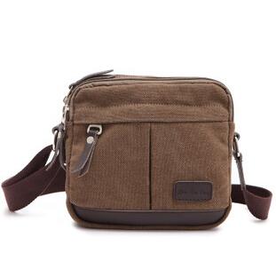 Korea Casual Men Messenger bag Good Canvas Vintage Shoulder crossbody bag Business bolsas for men  black/brown E008 <br><br>Aliexpress