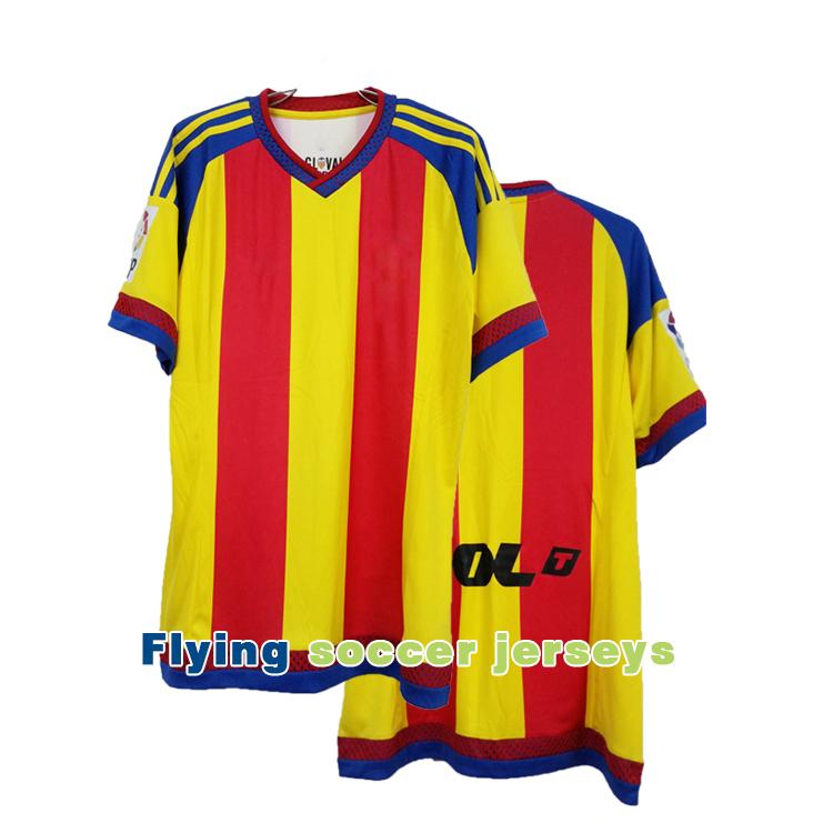 Free Shipping New Popular Valencia 2015 2016 Famous Soccer Jerseys High Quality Away Game Football Jerseys(China (Mainland))