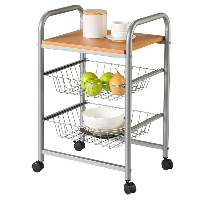 Kitchen Corner Trolley: Allstate-trumpet-versatile-metal-storage-racks-living-room
