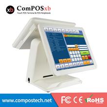 15' All in one Touch Screen Pos Caixa registadora Pos Terminal Do Sistema Monitor De Tela Dupla(China (Mainland))