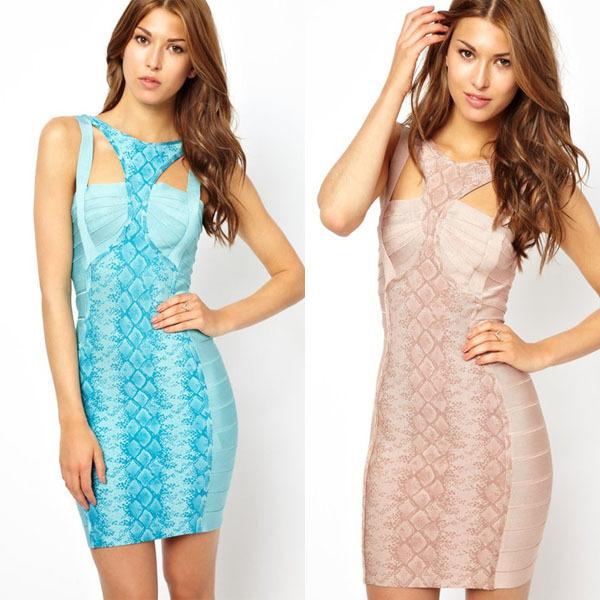 Newest cute printed blue pink bange dress v neck spaghetti strap patchwork hollow out princess lady dresses party wedding HL8609Одежда и ак�е��уары<br><br><br>Aliexpress