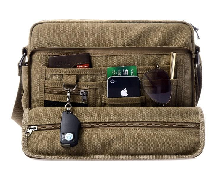 Hot Sale New Fashion Mens Canvas Messenger Bag Cheap Shoulder Bags Black Shoulder Bags  Hot Travel Bags Free Shipping<br><br>Aliexpress