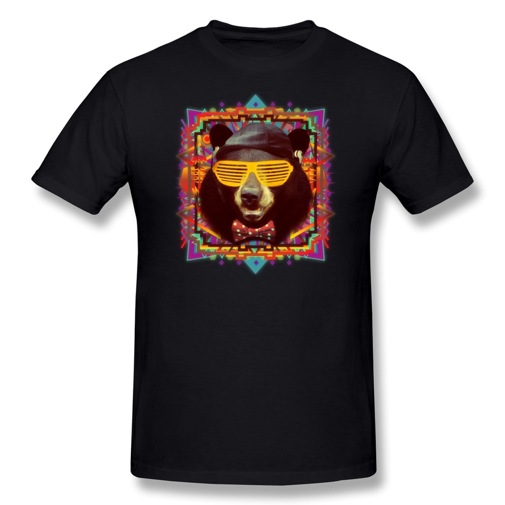 Personality 2015 new hipster bear men tshirt 100 cotton for Group t shirts cheap