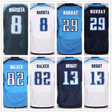 Best quality jersey,Men's Stitched 8 Marcus Mariota 29 DeMarco Murray elite jerseys,White,baby blue,Dark blue,Size 40-56(China (Mainland))