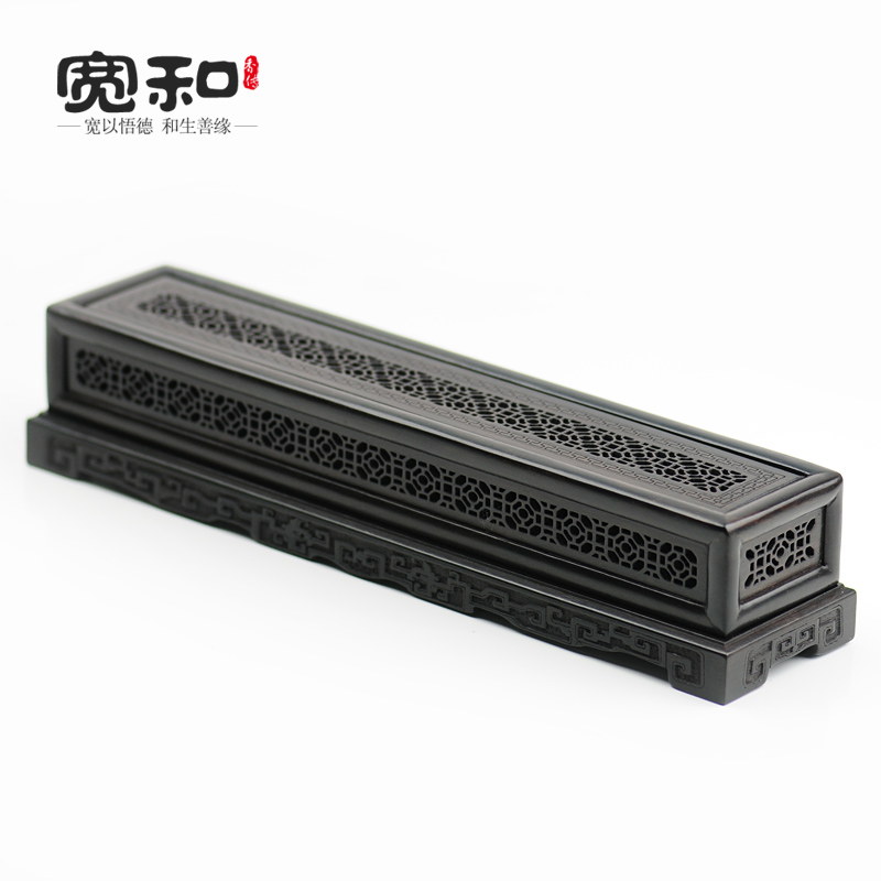 Creative censer violet Tan stencil Windows classic incense box incense burner wood carved solid wood bedroom(China (Mainland))
